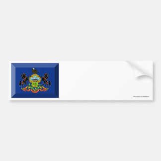 Pennsylvania Flag Gem Bumper Sticker