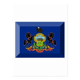 Pennsylvania Flag Gem Postcard