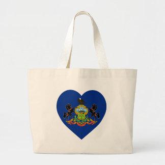 Pennsylvania Flag Heart Tote Bag