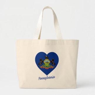 Pennsylvania Flag Heart Bags
