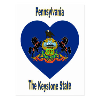 Pennsylvania Flag Heart Postcard