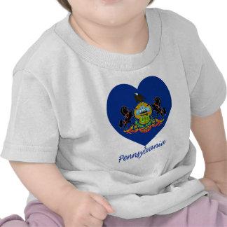 Pennsylvania Flag Heart T-shirt