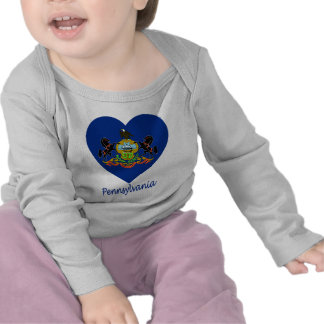 Pennsylvania Flag Heart Shirts