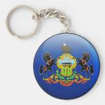 Pennsylvania Flag Key Chains