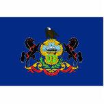 Pennsylvania Flag Keychain Cut Out