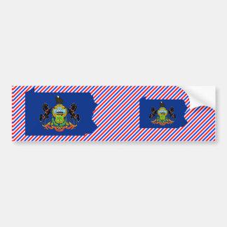 Pennsylvania Flag Map Bumper Sticker