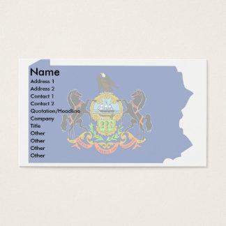Pennsylvania Flag Map Business Card