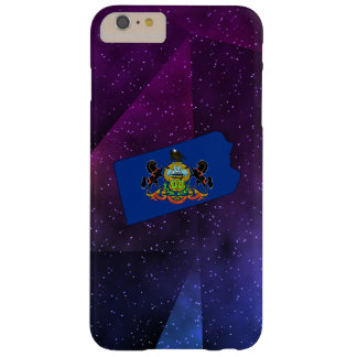 Pennsylvania Flag Map on abstract space background Barely There iPhone 6 Plus Case
