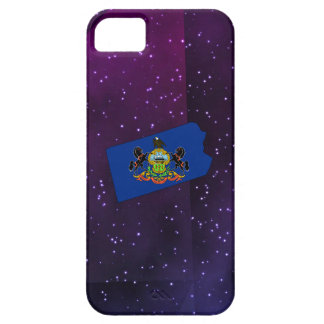 Pennsylvania Flag Map on abstract space background iPhone 5 Cover