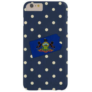 Pennsylvania Flag Map on Polka Dots Barely There iPhone 6 Plus Case