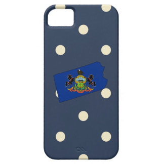 Pennsylvania Flag Map on Polka Dots iPhone 5 Cover