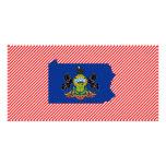 Pennsylvania Flag Map Photo Card