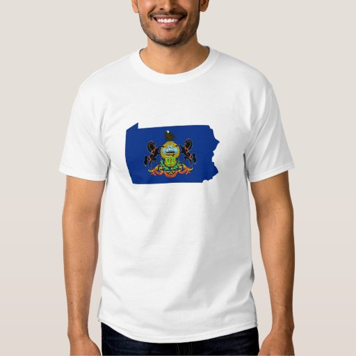 Pennsylvania Flag Map Shirt