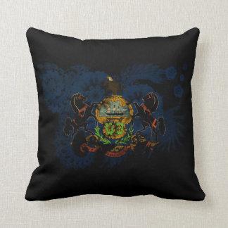 Pennsylvania Flag Throw Pillows