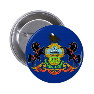 Pennsylvania Flag Pinback Button