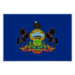 Pennsylvania Flag Print