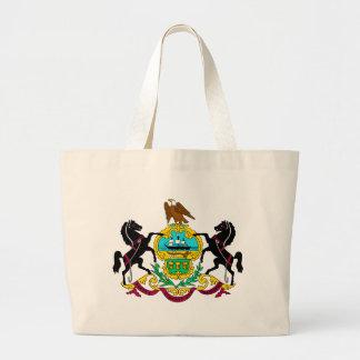 Pennsylvania Flag Theme 00 Large Tote Bag