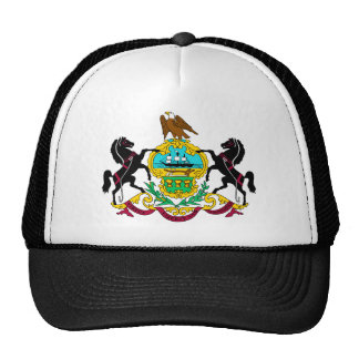Pennsylvania Flag Theme 00 Trucker Hat