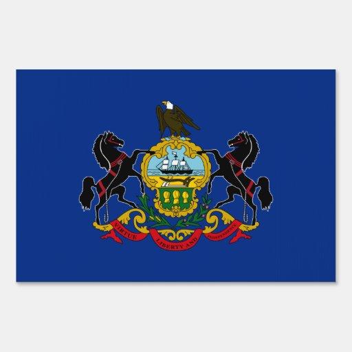 Pennsylvania Flag Yard Sign