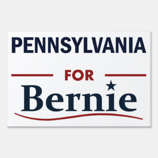 Pennsylvania for Bernie Sign