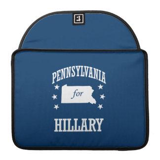 PENNSYLVANIA FOR HILLARY SLEEVE FOR MacBooks