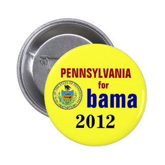 Pennsylvania for Obama 2012 Pinback Buttons
