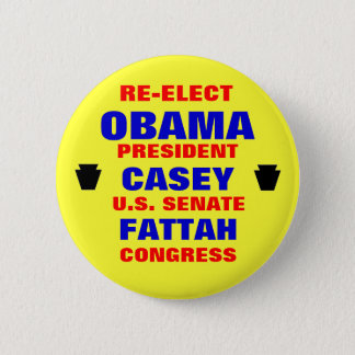 Pennsylvania for Obama Casey Fattah Pinback Button