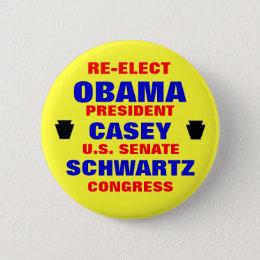 Pennsylvania for Obama Casey Schwartz Pinback Button