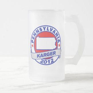 Pennsylvania Fred Karger Frosted Glass Beer Mug