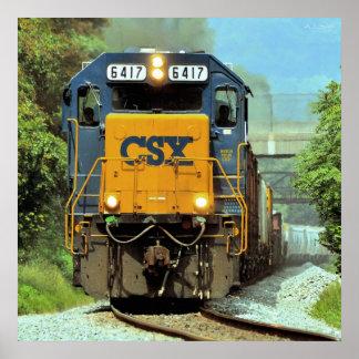 Pennsylvania Freight Train Poster