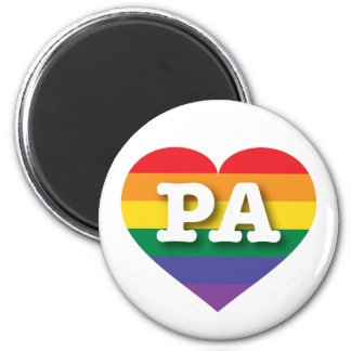 Pennsylvania Gay Pride Rainbow Heart - Big Love Magnet