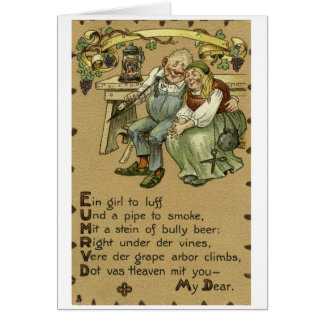 Pennsylvania German Love Card