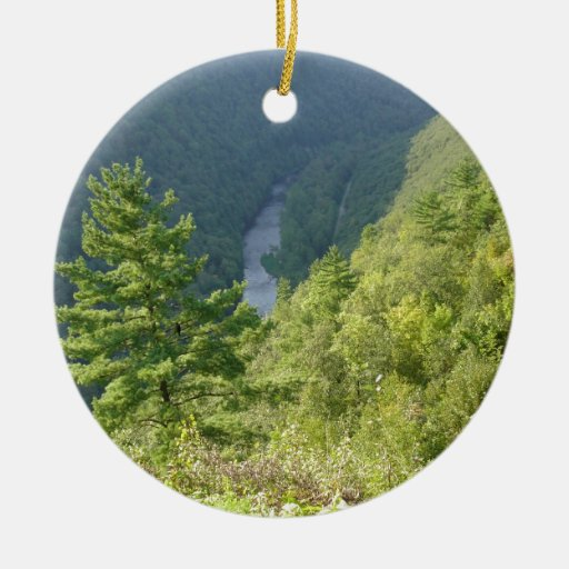Pennsylvania Grand Canyon by Ave Hurley Ceramic Ornament
