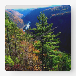 Pennsylvania Grand Canyon - Leonard Harrison Park Square Wall Clock
