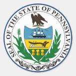 Pennsylvania Great Seal Classic Round Sticker