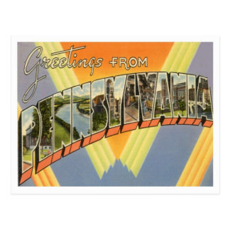 Pennsylvania Greetings From US States Postcard