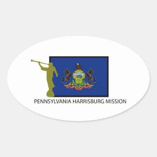 PENNSYLVANIA HARRISBURG MISSION LDS CTR OVAL STICKER