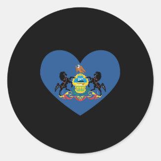 PENNSYLVANIA HEART DESIGN -  .png Classic Round Sticker