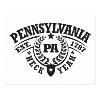 Pennsylvania, Heck Yeah, Est. 1787 Postcard