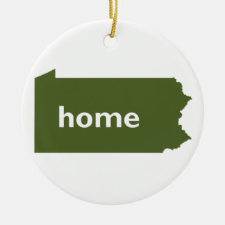 Pennsylvania Home Double-Sided Ceramic Round Christmas Ornament