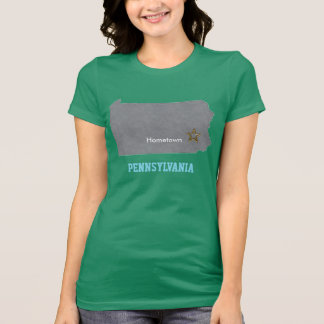 PENNSYLVANIA Home Town Personalized Map T-Shirt