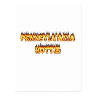 pennsylvania hottie fire and flames postcard