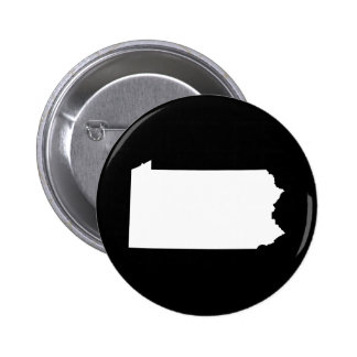 Pennsylvania in White and Black 2 Inch Round Button