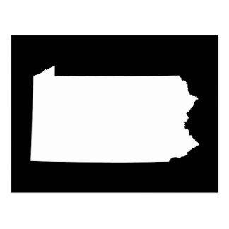 Pennsylvania in White and Black Postcard