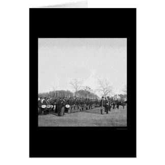 Pennsylvania Infantry Parade at Beaufort, SC 1862 Card