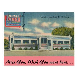 Pennsylvania, Keswick Diner, Glenside Postcard