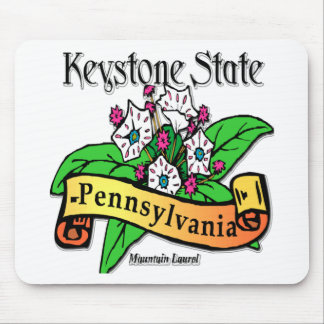 Pennsylvania Keystone State Mountain Laurel Mouse Pad