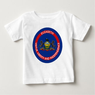 Pennsylvania Keystone State Personalized Flag Baby T-Shirt
