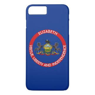 Pennsylvania Keystone State Personalized Flag iPhone 7 Plus Case