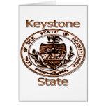Pennsylvania Keystone State Seal Greeting Card